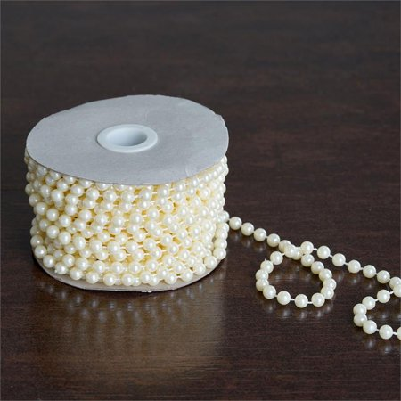 Balsacircle 12 Yards 6mm Faux Pearls String Beads Wedding Party