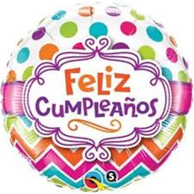 Anagram 72495 18 in. Feliz Cumpleanos A Ti -Party Balloon - Pack of 5 - image 1 de 1