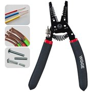 WGGE WG-013 Wire Stripper and Cutter 7'',Cuts, strips wire and loops 10-20 AWG Solid and (0.8-2.6mm) Stranded