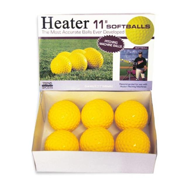Heater PMB34 11 in. Pitching Machine Softballs, Dozen