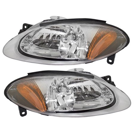 Pair Set Halogen Combination Headlights Headlamps Replacement Fits 98 03 Ford Zx2 Coupe Xs4z13008da Xs4z13008ca
