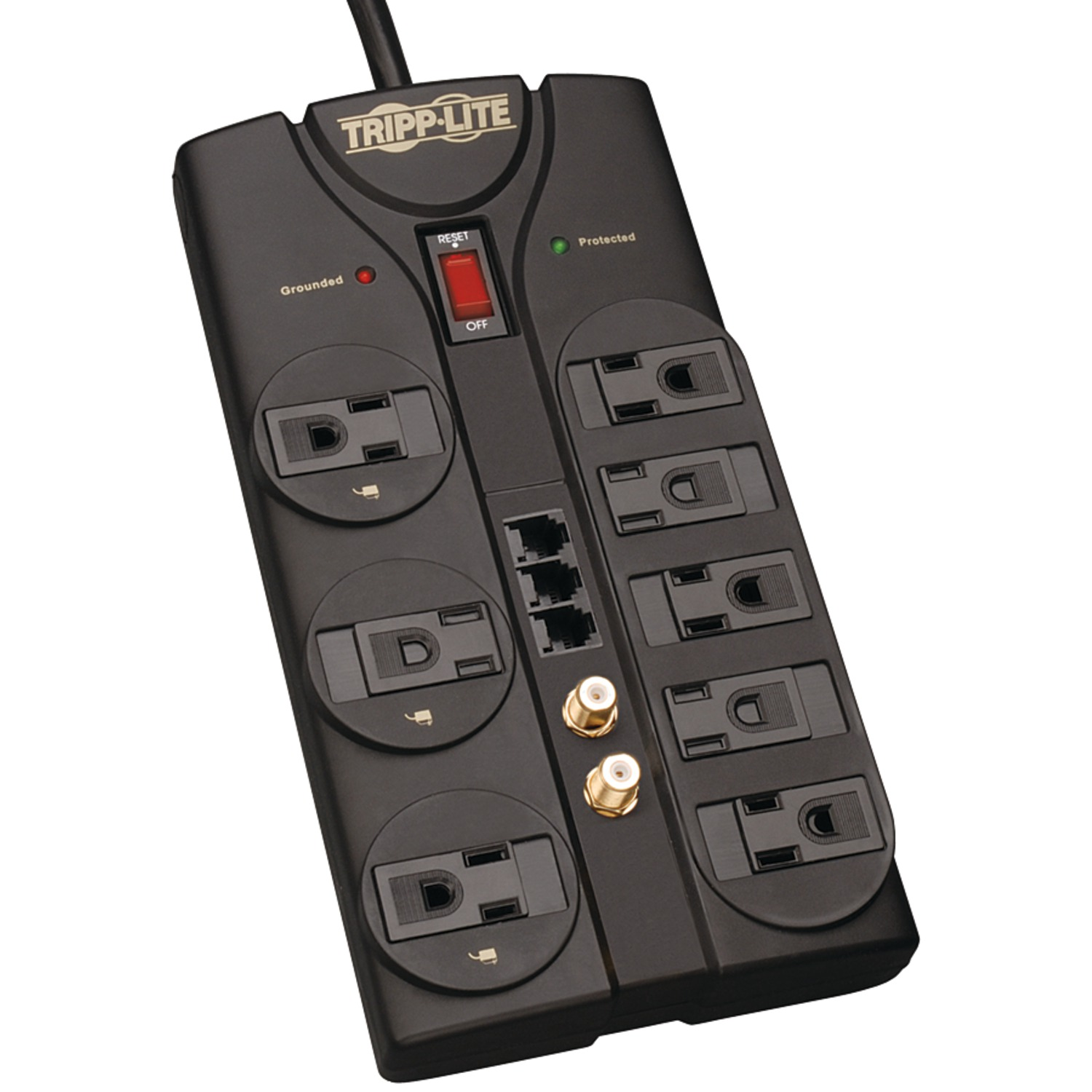 Tripp Lite Tlp808teltv 8-outlet Surge Protector (2,160 Joules; 8ft Cord; Tel/modem/fax Protection; $150,000 Ultimate Lifetime Insurance)