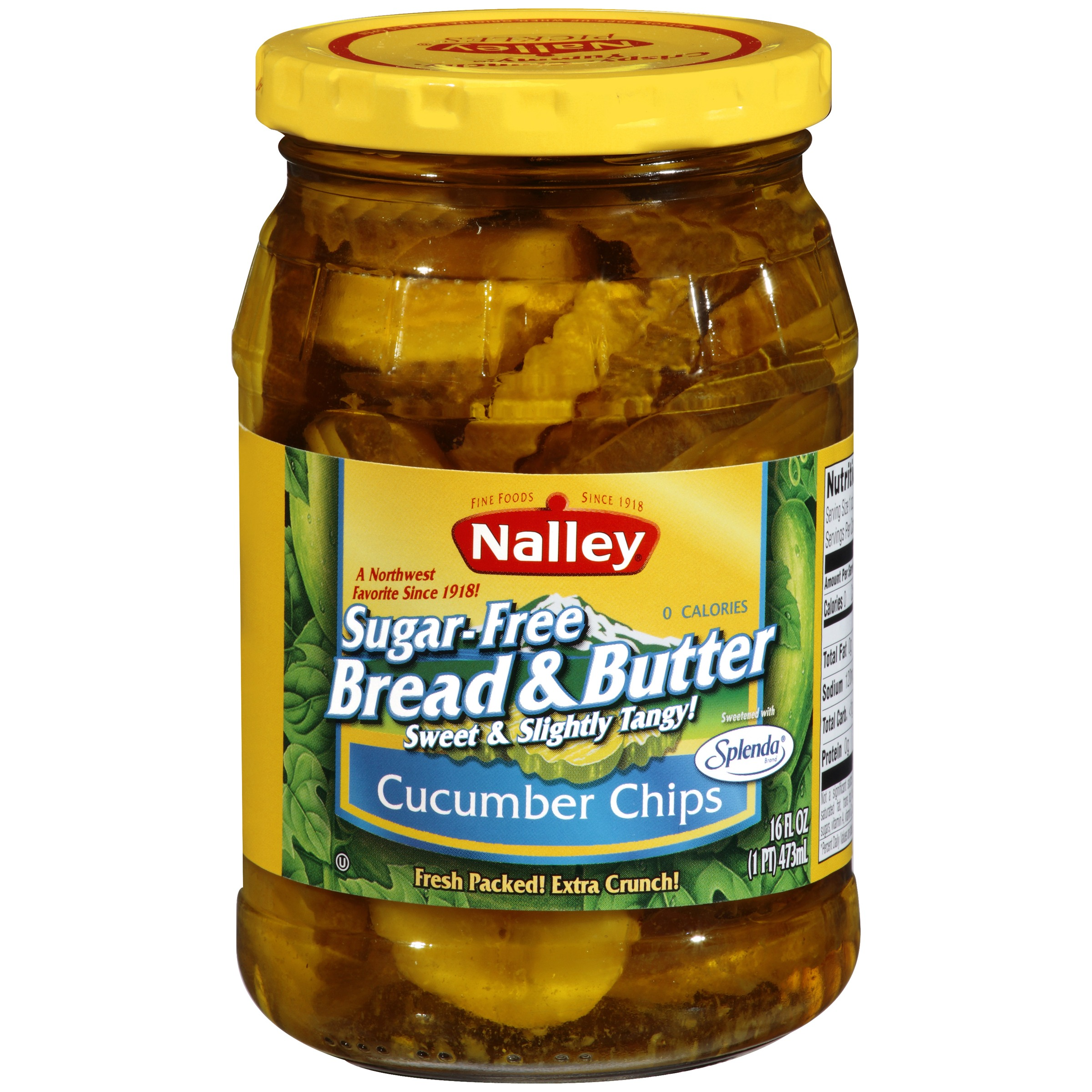 Nalley Sweet & Slightly Tangy Sugar-Free Bread & Butter Cucumber Chips, 16 fl oz