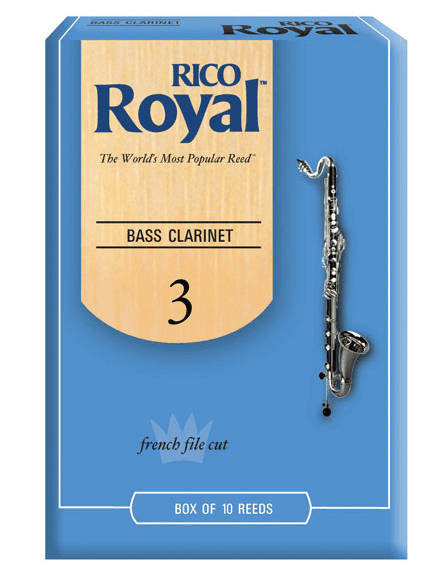 Rico Royal Bass Clarinet Reeds 10 Ct 3.0 Strength by Rico Royal