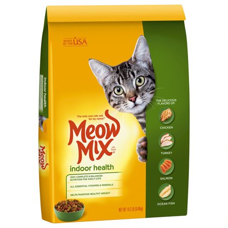 Meow Mix Indoor Health Dry Cat Food, 14.2 lb - Halloween Cat Meow Sound