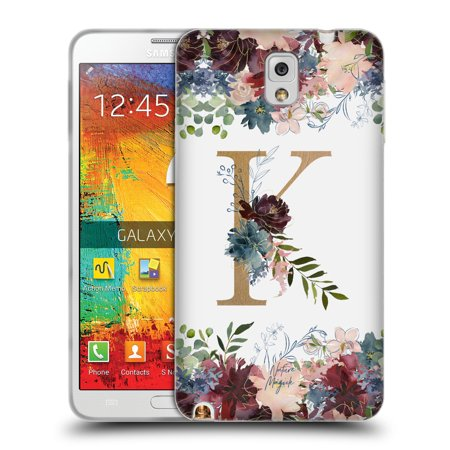 OFFICIAL NATURE MAGICK FLOWERS MONOGRAM FLORAL GOLD SOFT GEL CASE FOR  SAMSUNG PHONES 2