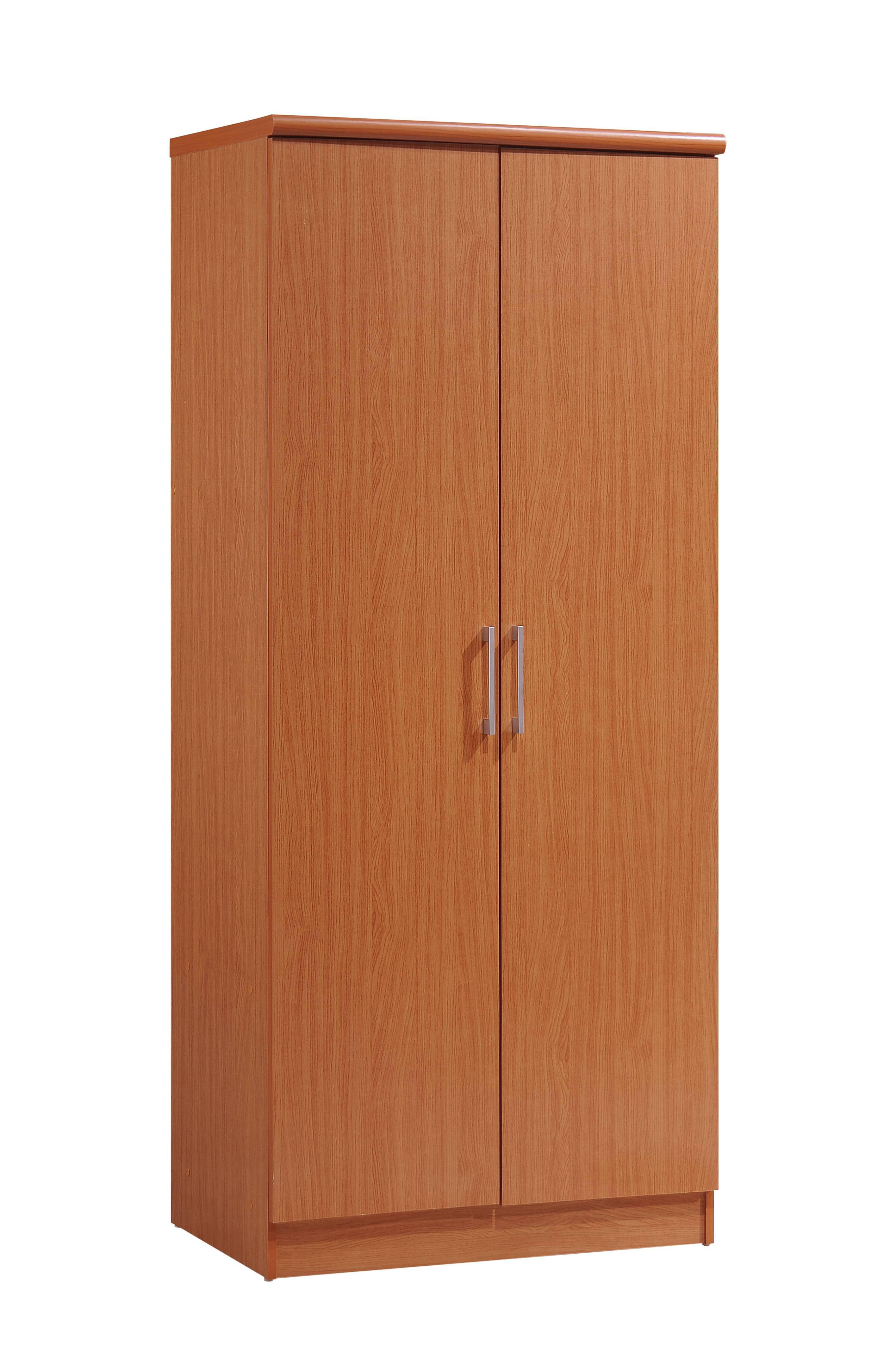 Hodedah 2-Door Wardrobe With 4-Shelves, Multiple Colors