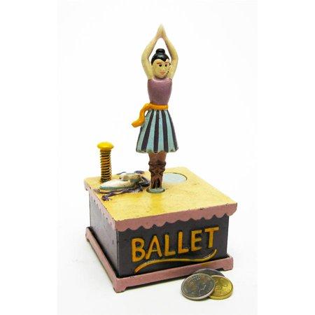 Ballet Dancer Collectors' Die Cast Iron Mechanical Coin Bank