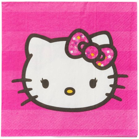 Hello Kitty Lunch Napkins, 16 Count, Party Supplies