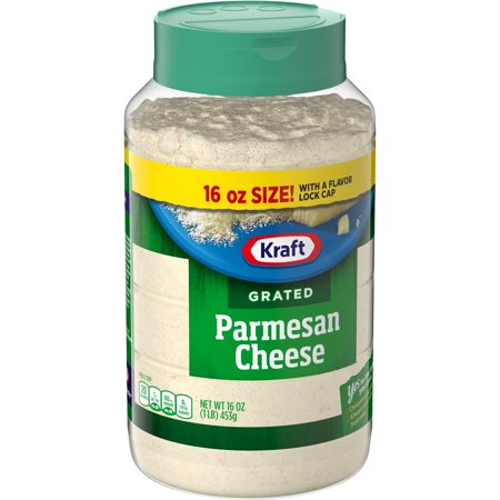 Kraft Grated Cheese, Parmesan Cheese, 16 oz Jar
