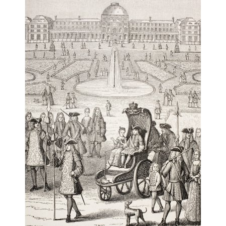 The Young King Louis Xv Promenading In A Carriage In The Tuileries Gardens Paris France From Xviii Siecle Institutions Usages Et Costumes Published Paris 1875 Canvas Art - Ken Welsh  Design Pics (13 x - Zayn Et Louis Halloween