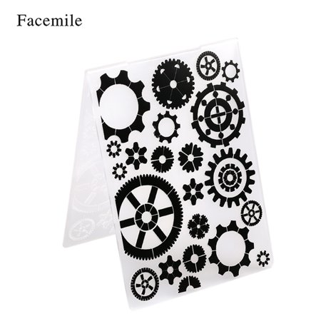 1PCS Decorative Frame Embossing Folder Plastic Template Textured Impressions for Scrapbooking Photo Card Craft Making Cake Decoration Style 7](Scrapbook Cards)