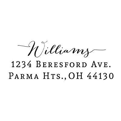 Custom Return Address Stamp Rubber Wedding Designer Bridal Gift
