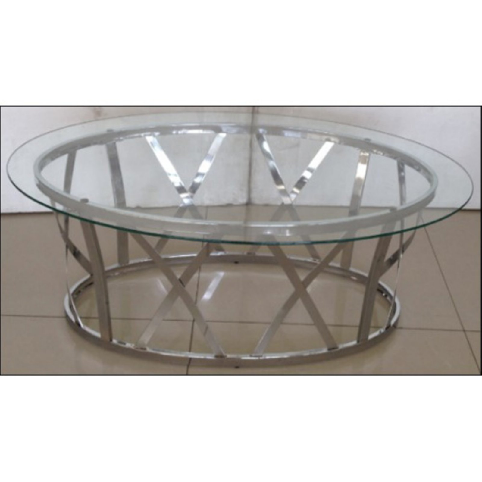 United Furniture 48 in. Oval Cocktail Table