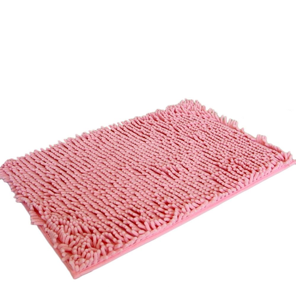 Sayhi Soft Shaggy Non Slip Absorbent Bath Mat Shower Rugs Carpet Bathroom Accessory