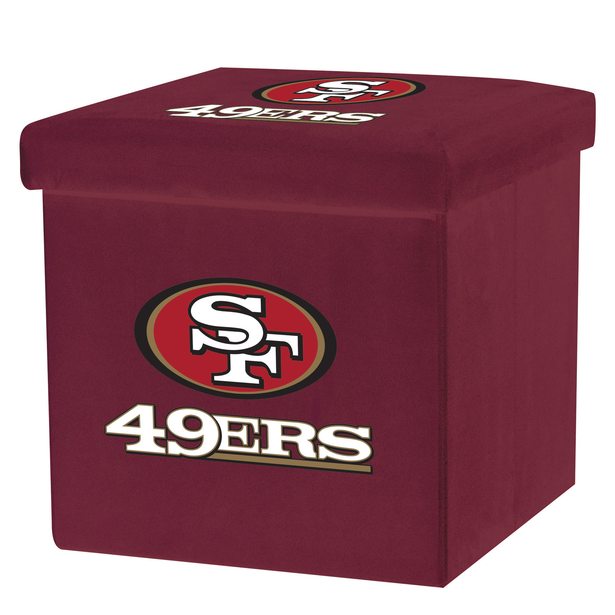 Franklin Sports NFL San Francisco 49Ers Storage Ottoman with Detachable Lid