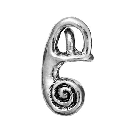 Sexy Sparkles Medical Anatomical 3D Human Cochlea Charm Pendant For Necklace Bracelets Or Keychains