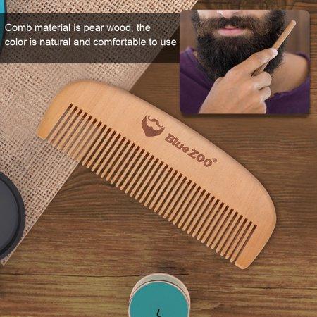 Aramox Portable Mens Beard Wooden Comb Kit Mustache Hair Care Brush Shape Tools Beard Comb Mustache Wodden Comb