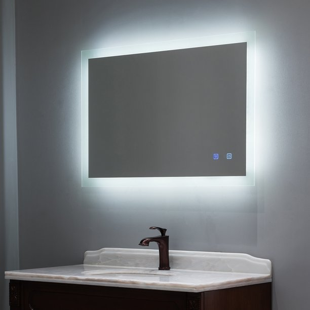 Clearance Sale 40 X 24 Inch Backlit Led Lighted Bathroom Vanity Mirror Anti Fog Dimmable Touch Button Slim 90 Cri Waterproof Ip44 Vertical Horizontal Wall Mounted Way Walmart Com Walmart Com