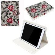 JAVOedge Red Rose Pattern Case for Apple iPad Air 2 with Built in Stand