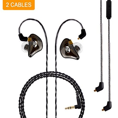 basn professional in-ear monitor headphones for singers drummers musicians with mmcx connector (Best In Ear Monitors For Drummers)