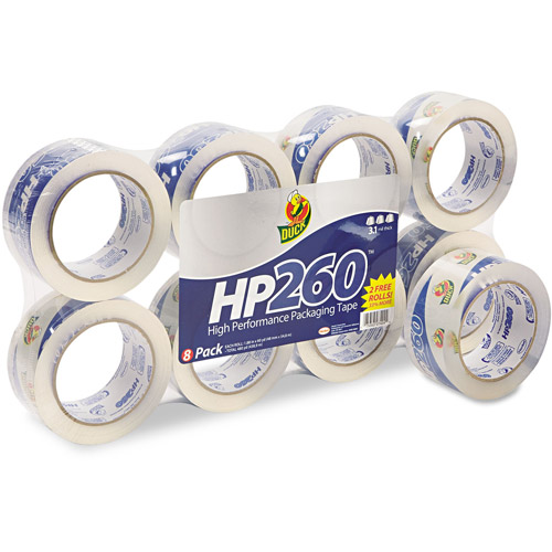 "Duck HP260 Packaging Tape 1.88"" x 60 yards, 8-pack"