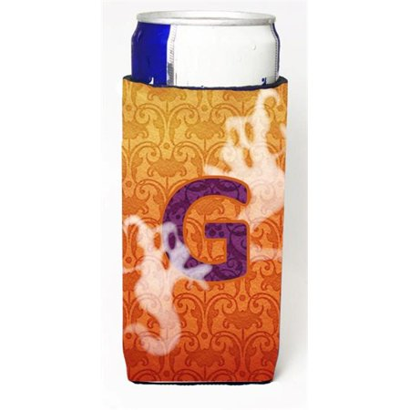 Halloween Ghosts Monogram Initial Letter G Michelob Ultra s For Slim Cans](Letter G Halloween)