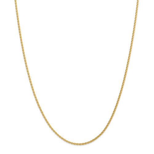 14k Yellow Gold 18in 1.9mm Parisian Wheat Necklace Chain by Jewelrypot