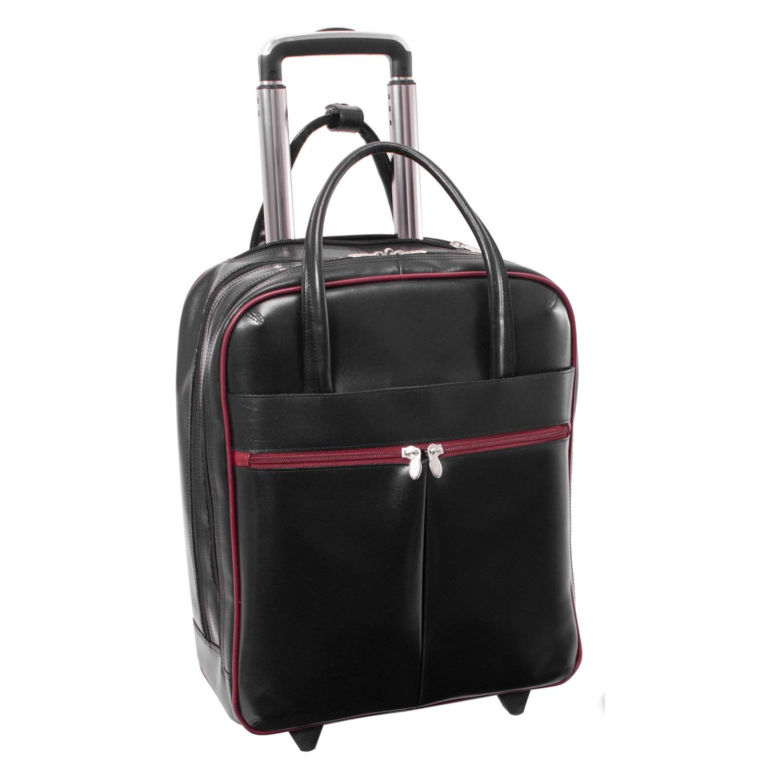 McKlein USA Volo 15.6 in. Leather Laptop Overnighter Wheeled Carry-on Bag by McKleinUSA