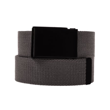 DG HillMens Casual Canvas Web Belt Military Style Tactical Polyester Flip Top Buckle ()
