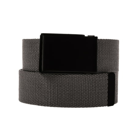 DG HillMens Casual Canvas Web Belt Military Style Tactical Polyester Flip Top Buckle