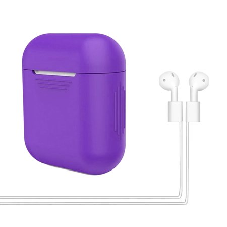 newest 57e07 bb2f1 HDE Silicone Apple Airpods Case with Earbud Strap Shockproof Colorful  Protective Cover for Charging Case with 22
