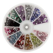 (2 Pack) Premium MASH 1200 Piece 12 Color Nail Art Nailart 3D Design Star Shape Rhinestones