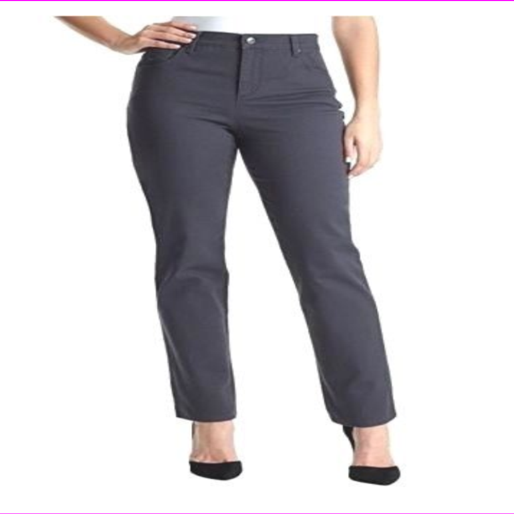 Gloria Vanderbilt Amanda Classic Stretch Slimming  Blackberry Pant Sz 16 22 Plus