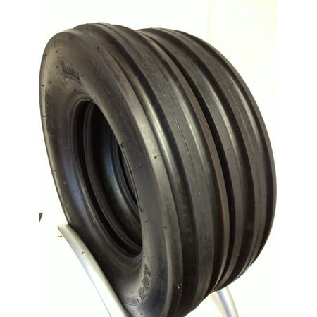 Pair of 6.00X16 Heavy Duty 8 Ply Tri Rib Farm Tractor Tires 600x16, 6.00-16 Front TUBELESS
