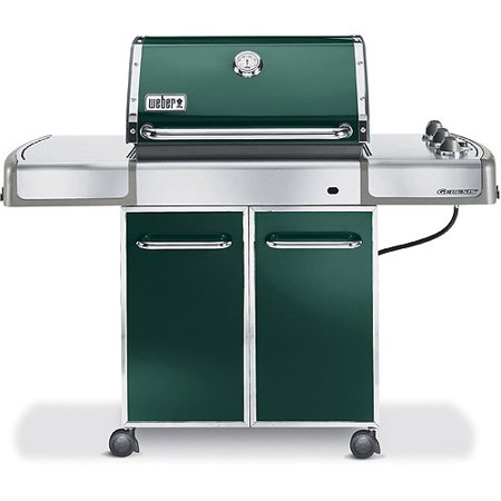 weber genesis e 310 green lp gas grill. Black Bedroom Furniture Sets. Home Design Ideas