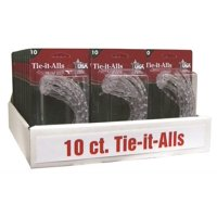 TIE-IT-ALL PVC CLEAR 10CT per 24 PK 10