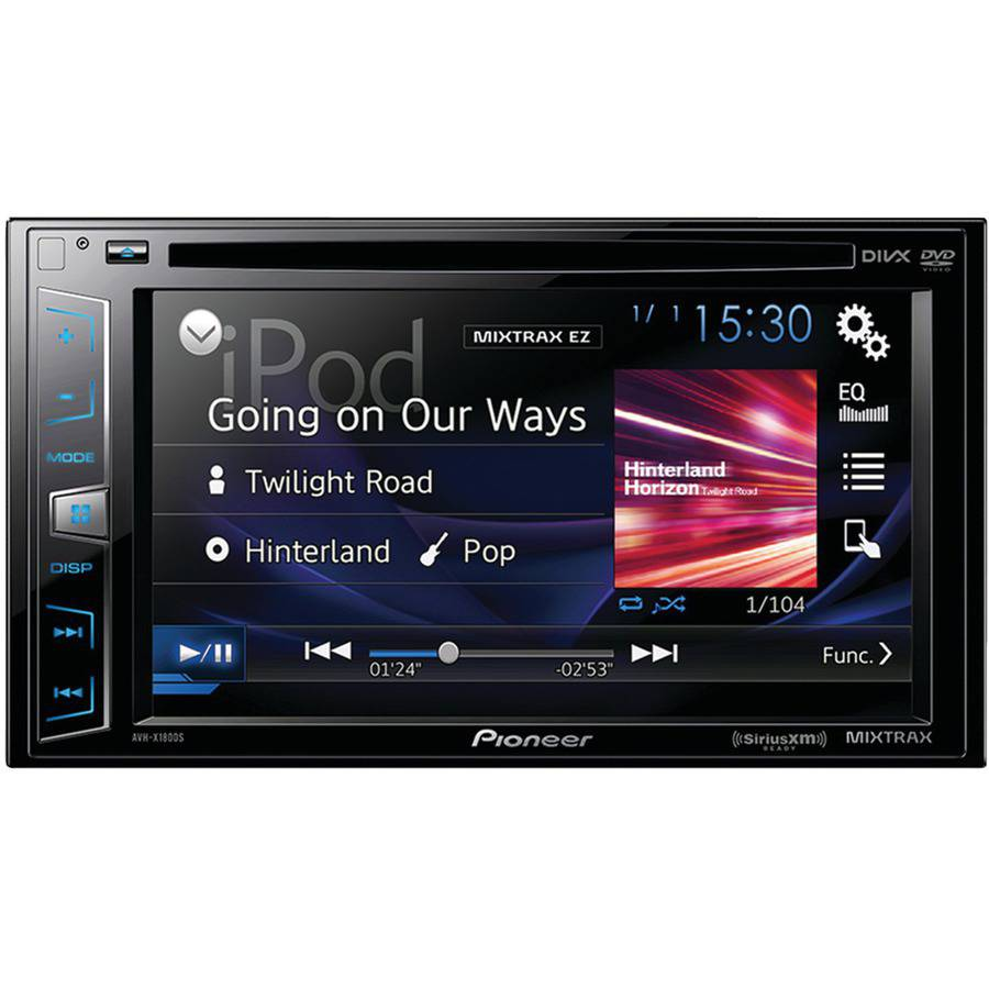 "Pioneer Avh-x1800s 6.2"" Double-DIN In-Dash DVD Receiver with Siri Eyes Free, SiriusXM Ready, Spotify and AppRadio One"