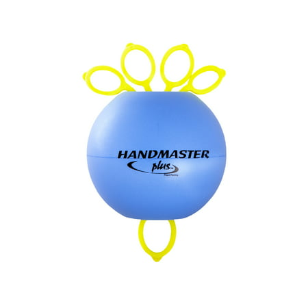 Hand Therapy Exercises - Handmaster Plus Physical Therapy Hand Exerciser - Stress Ball Grip Strengthener with Resistance Bands - Set of 2