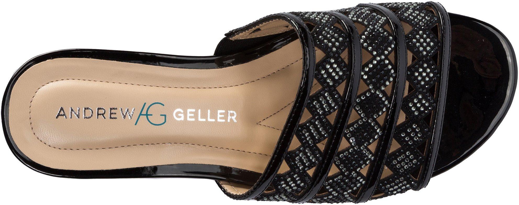 Andrew Geller Womens Idonna Sandals 7.5 Black