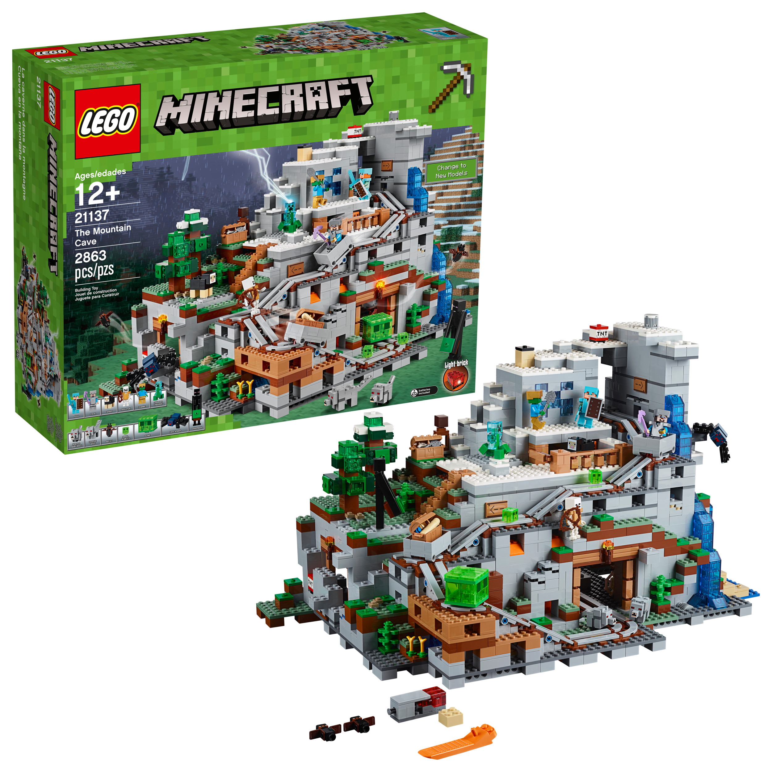 Lego Minecraft The Mountain Cave 21137 by LEGO System Inc