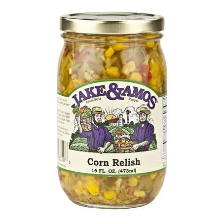 Spicy Corn Relish - Jake & Amos Corn Relish 16 oz. (3 Jars)
