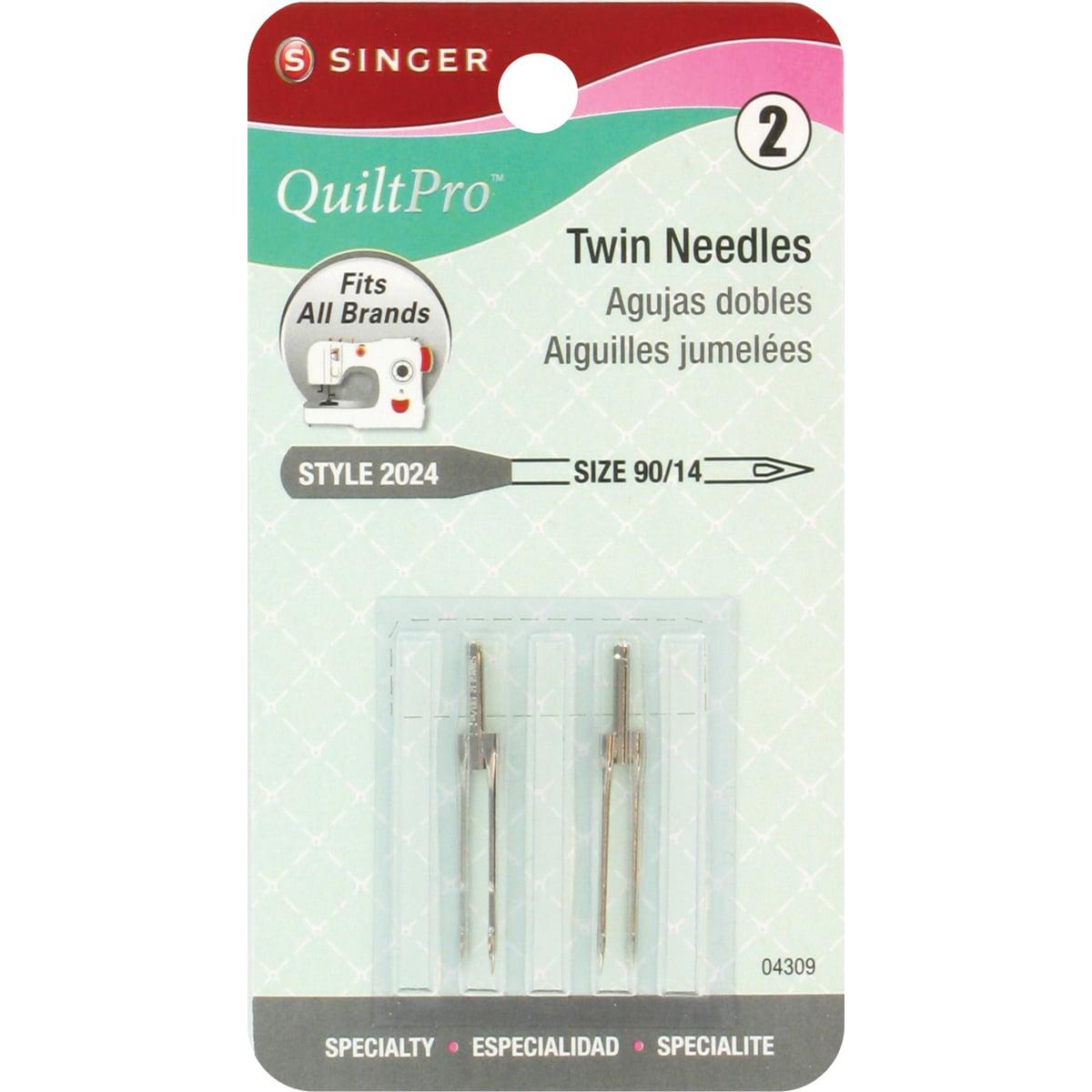 QuiltPro Twin Machine Needles-Size 14/90 2/Pkg