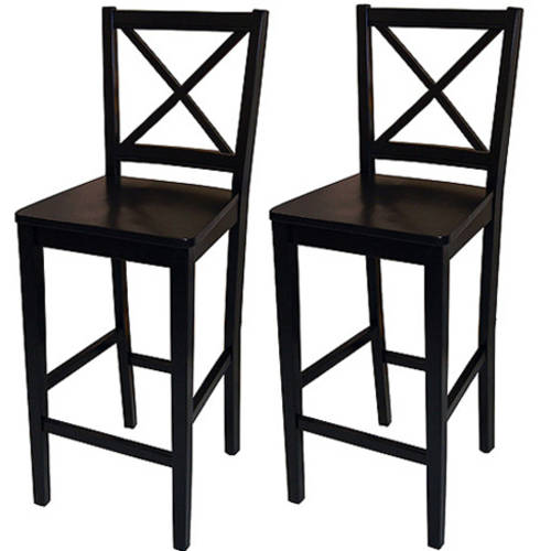 "Virginia Cross-Back 30"" Bar Stool, Set of 2, Multiple Colors"