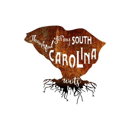 Precision Metal Art SOUTHCAROLINAROOTS-18PAT-BLK 18 in. State South Carolina Roots Steel Laser Cut Wall Art in Patina With Black Roots - image 1 of 1