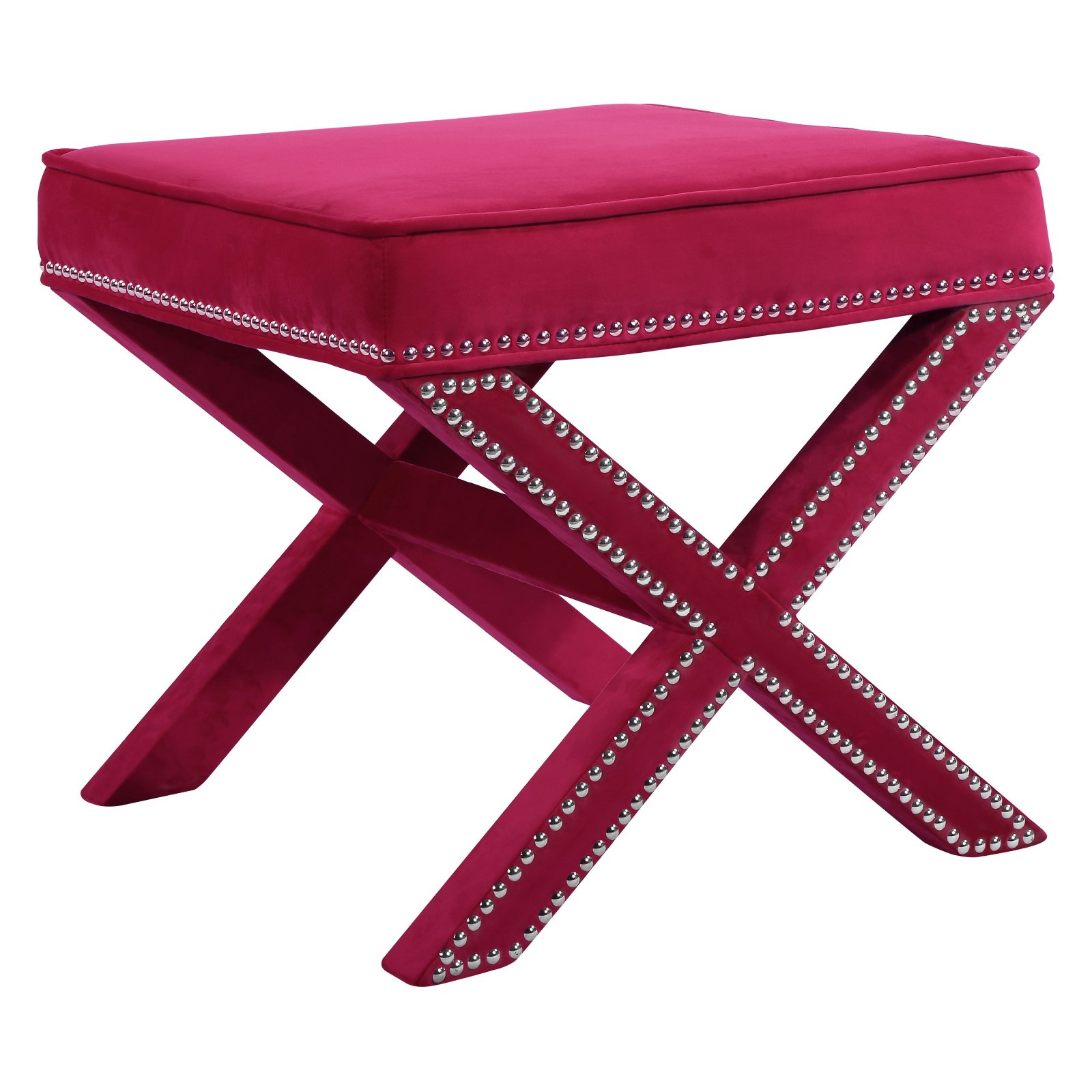 Meridian Furniture Inc Nixon Velvet Ottoman