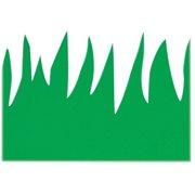 Hygloss Green Grass Design Border Strips, Green, 12 / Pack (Quantity)