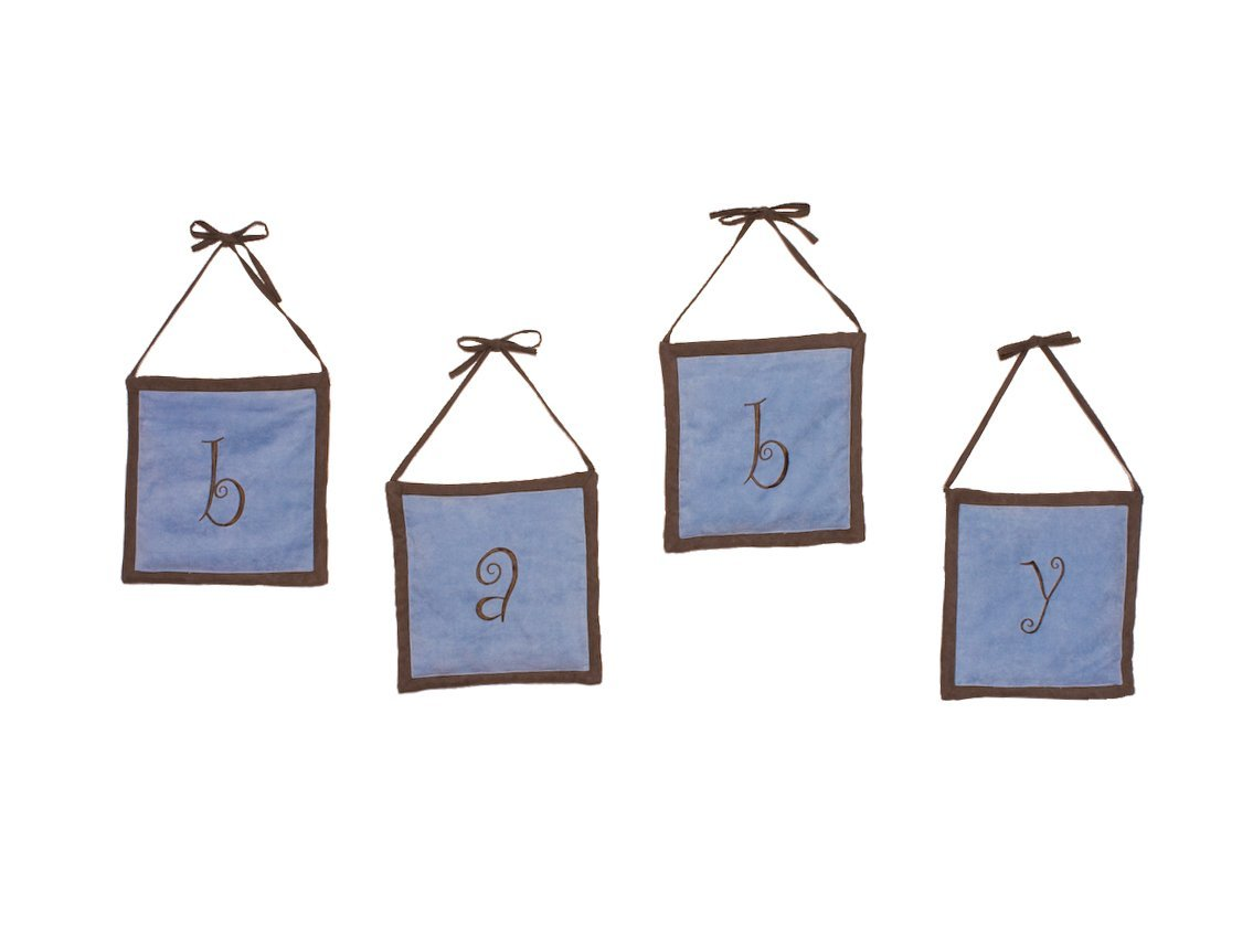 Pam Grace Creations Baby Wall Hangings in Blue  Chocolate by Pam Grace Creations