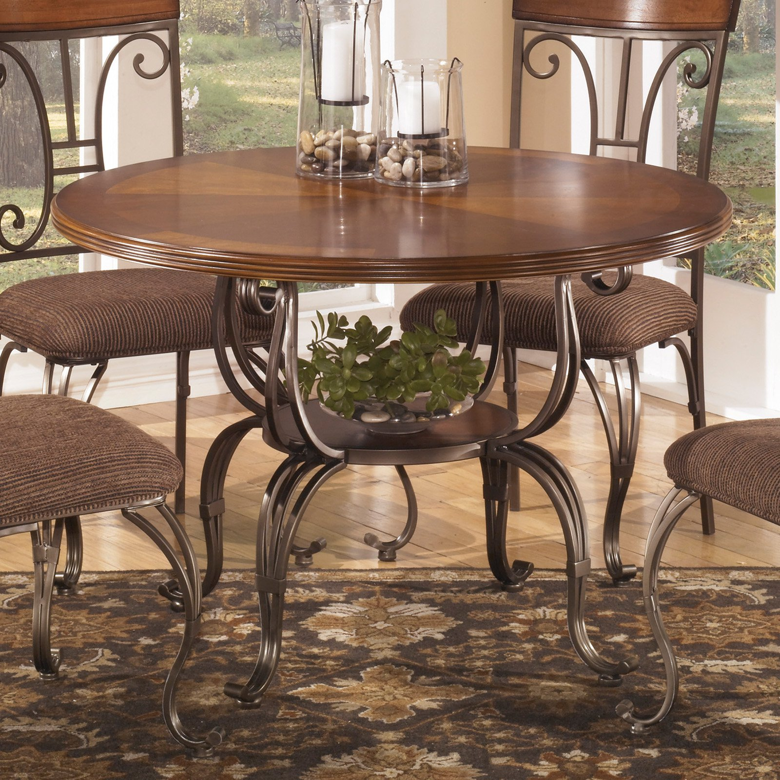 Signature Design by Ashley Plentywood Round Dining Table by Ashley Furniture