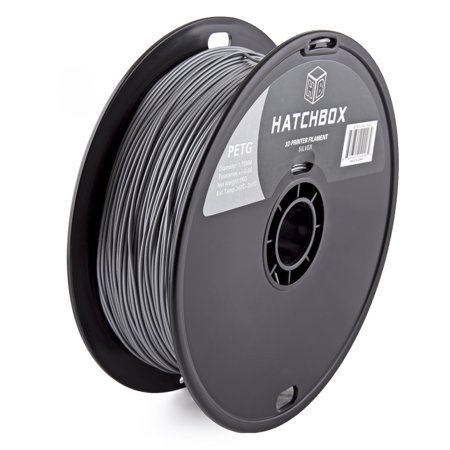 Hatchbox 3D Petg 1Kg1 75 Slv Petg 3D Printer Filament  Dimensional Accuracy     0 05 Mm  1 Kg Spool  1 75 Mm  Sliver